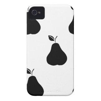 白の黒いナシ Case-Mate iPhone 4 ケース