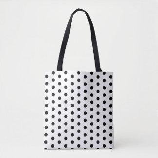 白の黒い水玉模様 トートバッグ