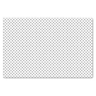 白の黒い水玉模様 薄葉紙