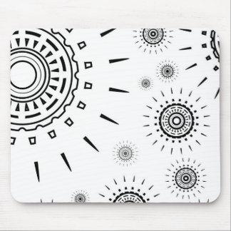 白の黒の破烈パターン マウスパッド