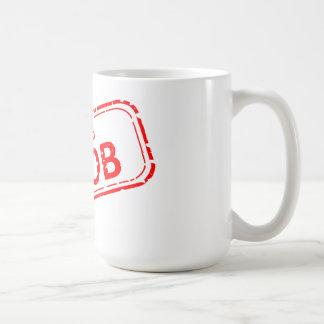 白の100%年のNoobの形式的な赤 コーヒーマグカップ
