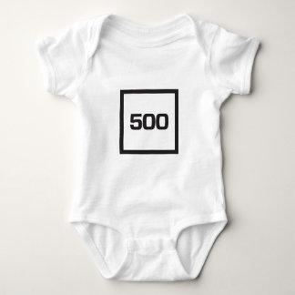 白の500黒 ベビーボディスーツ