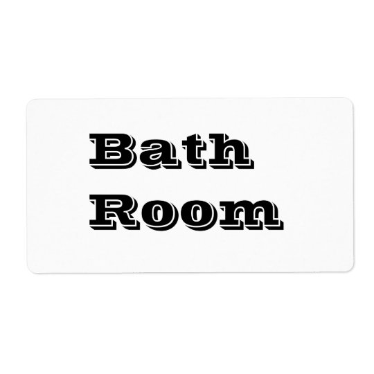 白のBath部屋の移動ラベル ラベル