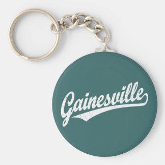 白のGainesvilleの原稿のロゴ キーホルダー