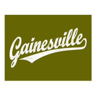 白のGainesvilleの原稿のロゴ ポストカード