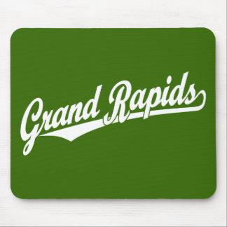 白のGrand Rapidsの原稿のロゴ マウスパッド