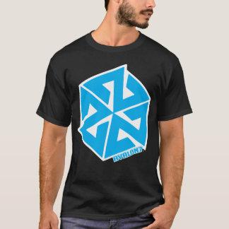 白のInspiraconの基本的な青 Tシャツ
