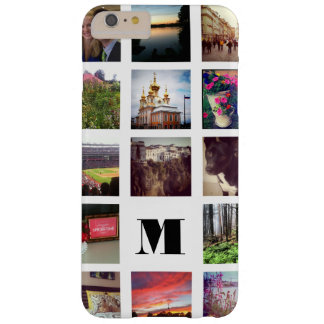 白のInstagramのモノグラムのな15の写真 Barely There iPhone 6 Plus ケース