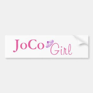 白のJoCoの女の子 バンパーステッカー