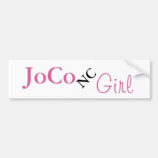 白のJoCo NCの女の子 バンパーステッカー