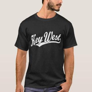 白のKey Westの原稿のロゴ Tシャツ