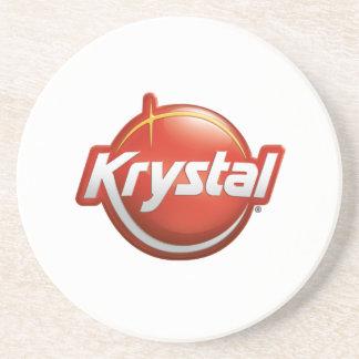 白のKrystalのロゴのコースター コースター
