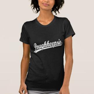 白のPoughkeepsieの原稿のロゴ Tシャツ