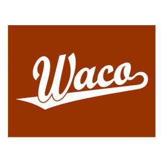 白のWacoの原稿のロゴ ポストカード