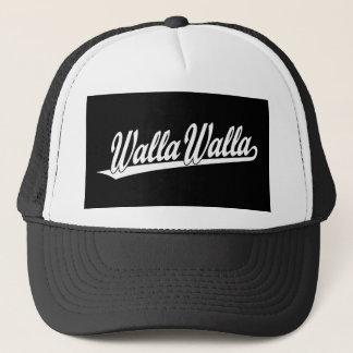 白のWalla Wallaの原稿のロゴ キャップ