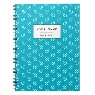 白はスキューバ青い背景パターンを固定します ノートブック