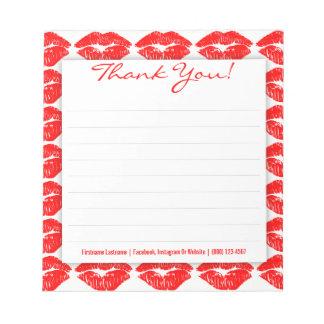 白カスタムの赤いキスはメモ帳感謝していしています ノートパッド