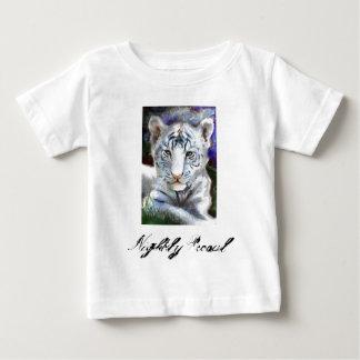 白トラの   毎夜のうろつきのTシャツ ベビーTシャツ
