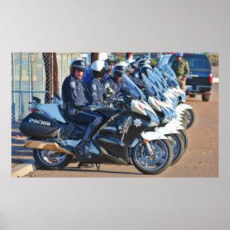 白バイの警官ポスター ポスター