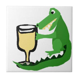 白ワインのおもしろいなわに飲むガラス タイル