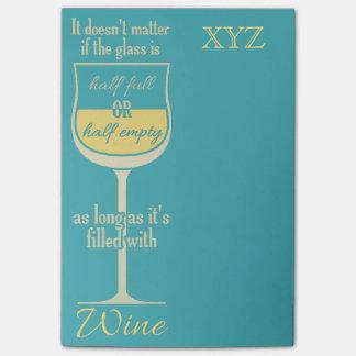 白ワインのガラスカスタムなモノグラムのポスト・イット ポストイット