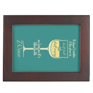 白ワインのガラスカスタムな記念品箱 ジュエリーボックス