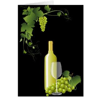 白ワインの静物画 カード