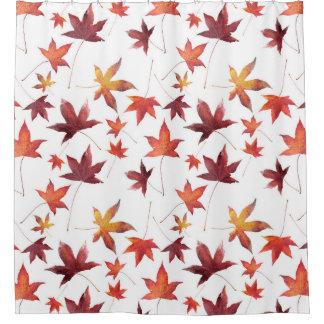 白上の死んだ葉 シャワーカーテン