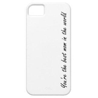 白世界のあなたは最も最高のなお母さん- iPhone SE/5/5s ケース