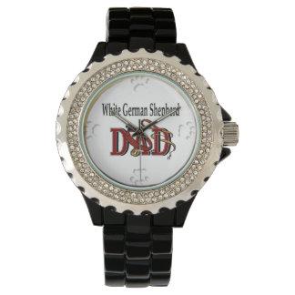 白人のジャーマン・シェパードのパパ 腕時計