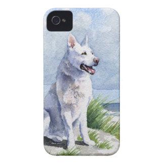 白人のジャーマン・シェパード Case-Mate iPhone 4 ケース