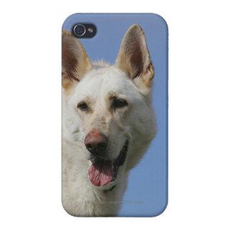 白人のジャーマン・シェパード iPhone 4 ケース