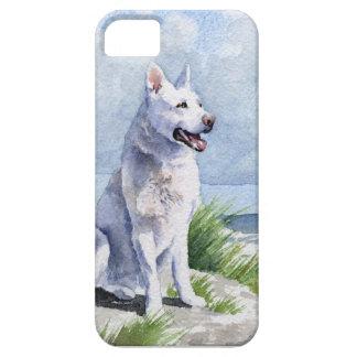 白人のジャーマン・シェパード iPhone SE/5/5s ケース