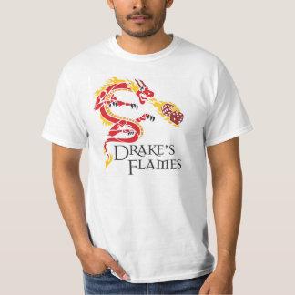 白人のドレークの炎のティー Tシャツ