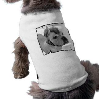 白人のボクサーパンク犬のワイシャツ ペット服