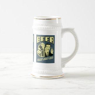 白人の人に1842年以来のダンスを救済します ビールジョッキ