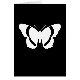 白人の海軍大将蝶のカスタマイズ可能なブランク カード