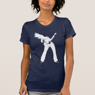 白人の石の女の子 Tシャツ