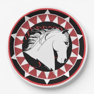 白人の種馬デザイナー紙皿 ペーパープレート