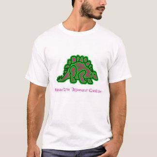 白人のRAD-CのステゴサウルスのロゴのTシャツ Tシャツ