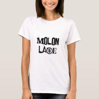 白人女性のTシャツMolon Labe Tシャツ