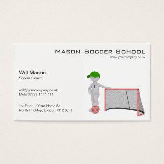 白人、サッカーのコーチの名刺 名刺
