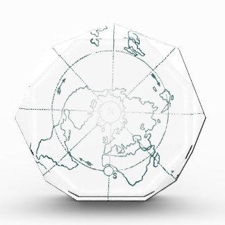 白北極AEは地図を描きます 表彰盾
