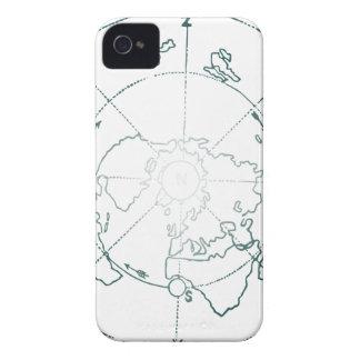 白北極AEは地図を描きます iPhone 4 カバー