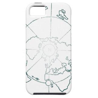 白北極AEは地図を描きます iPhone 5 Case-Mate ケース