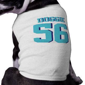 白及びターコイズペット スポーツのジャージーのデザイン ペット服