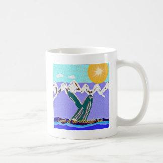 白夜のザトウクジラへの違反 コーヒーマグカップ