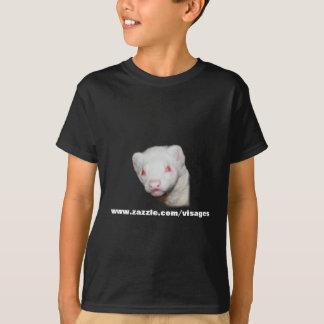 白子のフェレットの写真 Tシャツ