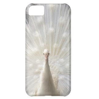 白子の孔雀のデザイン iPhone5Cケース