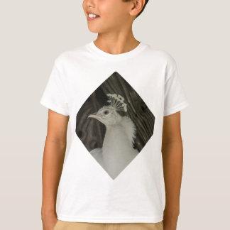 白子の孔雀の頭部 Tシャツ